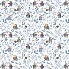 3523-739 Ткань Синие мыши, ширина 145см, Acufactum Ute Menze