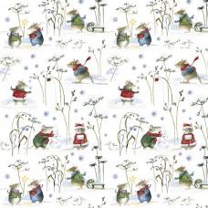3523-737 Ткань Зимние мыши, ширина 145см, Acufactum Ute Menze