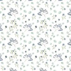 3523-690 Ткань Синяя ягода, ширина 145см, Acufactum Ute Menze