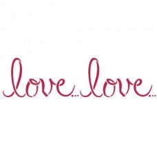 Трафарет Love... Love...