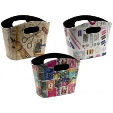 Сумка-контейнер с ручками для хранения мелкой фурнитуры, набор 3 дизайна