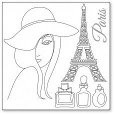Салфетка рисовая с контуром рисунка Silhouette art, Париж