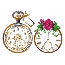 Трафарет Старинные часы