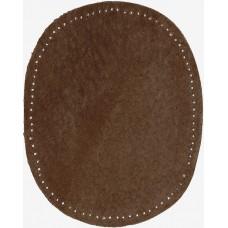 Заплатки термоклеевые искусственная замша HKM, коричневые, 2 шт