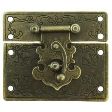 Затворы металлические для шкатулок, бронза