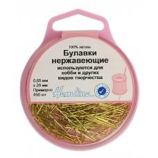 Булавки-гвоздики  в пластиковом круглом контейнере