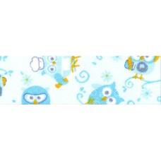 Косая бейка хлопковая с рисунком SAFISA, 20 мм, 20 м, цвет 01