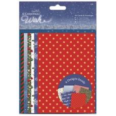 Набор заготовок для открыток с конвертами A Christmas Wish, A6