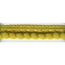 Тесьма с помпонами однорядная охристо-желтая 1 метр