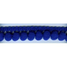 Тесьма с помпонами однорядная ярко-синяя 1 метр