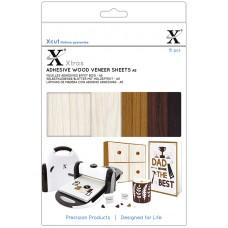 Набор бумаги для скрапбукинга с текстурой дерева на клеевой основе Xcut, 5 дизайнов