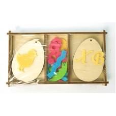 Набор яиц с накладками из фетра