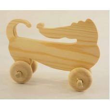 Игрушка Такса на колесах