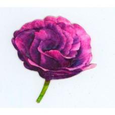 Термоаппликация с 3D эффектом HKM Цветок фиолетовый