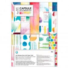 Набор для скрап-проектов Elements Pigment с высеченными элементами и бумагой, А4 (21 х 29,7 см), 4