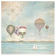 Салфетка рисовая Страна морей, воздушные шары