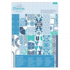 Набор для скрап-проектов  Moroccan Blue с высеченными элементами и бумагой