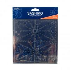 Шаблон для вышивки сашико лист конопли