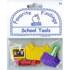 Пуговицы Favorite Findings Школьные принадлежности