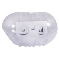 Шар пластиковый разъёмный с отверстием, 12  см