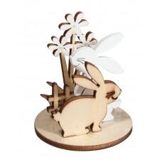 Фигурки для сборки композиции на подставке Кролики