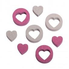 Набор декоративных элементов Сердечки