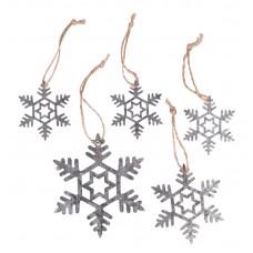 Декоративные подвески Снежинки