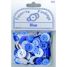 Пуговицы Favorite Findings Синие