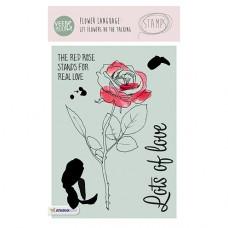 Набор прозрачных штампов Stamp Clear VEER & MOON Язык цветов: Роза