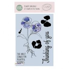 Набор прозрачных штампов Stamp Clear VEER & MOON Язык цветов: Виола