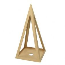Подставка для свечи Пирамида из папье-маше