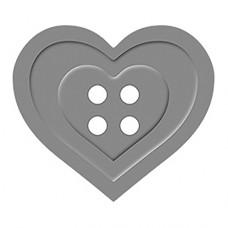 Дырокол с эмбоссингом Пуговица сердце
