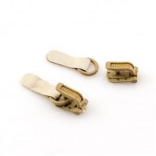 Крючки шубные, крючки+петли, 100 шт, цвет бежевый
