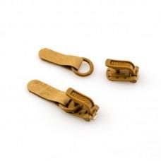 Крючки шубные, крючки+петли, 100 шт, цвет коричневый
