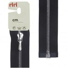 Молния металл, Ni, слайдер Tropf, 4 мм, разъёмная однозамковая, 90 см, цвет 2110, черный