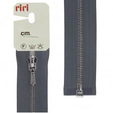 Молния металл, Ni, слайдер Tropf, 4 мм, разъёмная однозамковая, 90 см, цвет 2119, серо-голубой светл