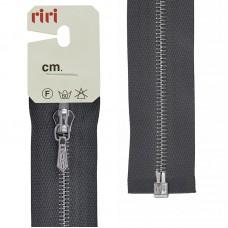 Молния металл, Ni, слайдер Tropf, 4 мм, разъёмная однозамковая, 100 см, цвет 2109, темно-серый