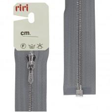 Молния металл, Ni, слайдер Tropf, 4 мм, разъёмная однозамковая, 100 см, цвет 2118, светло-серый