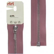 Молния металл, Ni, слайдер Tropf, 4 мм, разъёмная однозамковая, 100 см, цвет 2420, холодный розовый