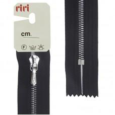 Молния металл, Ni, слайдер Tropf, 4 мм, неразъёмная карманная, 18 см, цвет 2110, черный