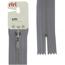 Молния металл, Ni, слайдер Tropf, 4 мм, неразъёмная карманная, 18 см, цвет 2118, светло-серый