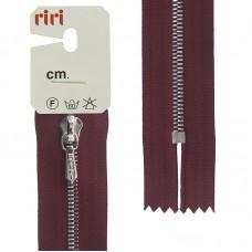 Молния металл, Ni, слайдер Tropf, 4 мм, неразъёмная карманная, 18 см, цвет 2411, бордовый