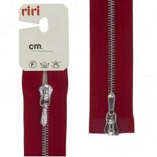 Молния металл, Ni, слайдер Tropf, 4 мм, разъёмная двухзамковая, 80 см, цвет 2407, красный