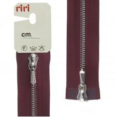 Молния металл, Ni, слайдер Tropf, 4 мм, разъёмная двухзамковая, 80 см, цвет 2411, бордовый