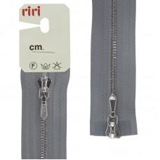 Молния металл, Ni, слайдер Tropf, 4 мм, разъёмная двухзамковая, 100 см, цвет 2118, светло-серый