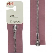 Молния металл, Ni, слайдер Tropf, 4 мм, разъёмная двухзамковая, 100 см, цвет 2420, розовый холодный