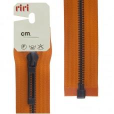 Молнии riri звено BI, слайдер STAB, разъёмная, 1 замок, 6 мм, 60 см, цвет 2404, оранжевый