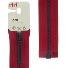 Молнии riri звено BI, слайдер STAB, разъёмная, 1 замок, 6 мм, 70 см, цвет 2407, красный