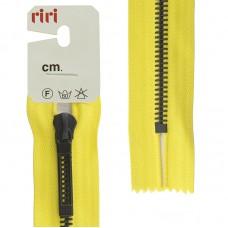 Молнии riri звено BI, слайдер STAB, неразъёмная карманная, 6 мм, 18 см, цвет 2304, желтый