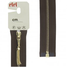 Молния металл, Gold, слайдер Zuff, 4 мм, разъёмная, 1 замок, 60 см, цвет 2225, коричневый